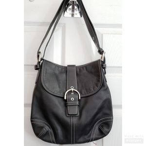 Coach Soho black leather handbag